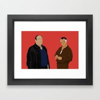 Sopranos - Tony Soprano … Framed Art Print