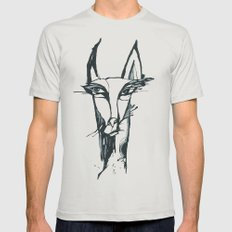 face of the animals Mens Fitted Tee Silver SMALL