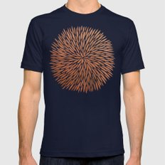 Rose Gold Burst Mens Fitted Tee Navy SMALL