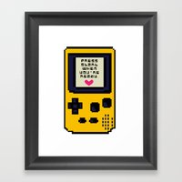 Press Start When You're … Framed Art Print