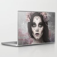 day of the dead Laptop & iPad Skins featuring Day of the Dead by Nicolas Jamonneau