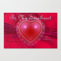 Be My Sweetheart Canvas Print