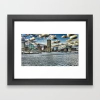 inner harbor Framed Art Print