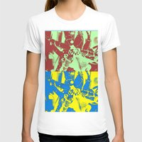 Pop Orchids Womens Fitted Tee White SMALL