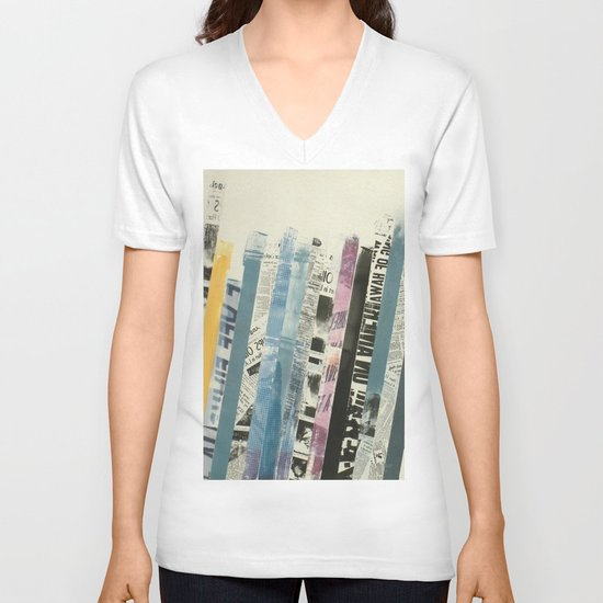 STRIPES 3 V-neck T-shirt