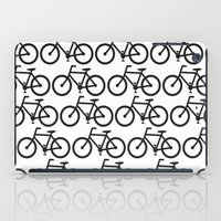 Bicycle Stamp Pattern - Black and White - Fixie Fixed Gear Bike iPad Case