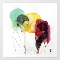 Love doesn't need words. Art Print