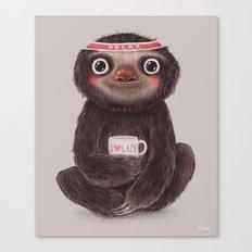 Sloth I♥lazy Canvas Print