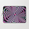 Lattice in Blue and Pink Laptop Sleeve