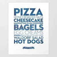 New York — Delicious City Prints Art Print