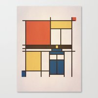 Mondrian Who Canvas Print