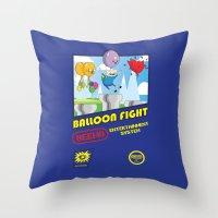 Adventure Time Balloon Fight Throw Pillow