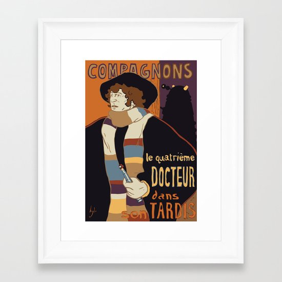 Le Fourth Doctor Framed Art Print