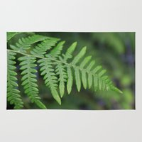 Green Fern Leaves. Flora… Rug