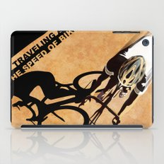 TRAVELING AT THE SPEED OF BIKE iPad Case