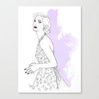 'Sylvia' Fashion Illustr… Canvas Print