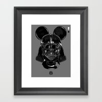 Pepper — Vader Mouse Framed Art Print