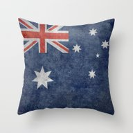 Throw Pillow featuring The National Flag Of Aus… by LonestarDesigns2020 …