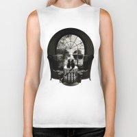 Room Skull B&W Biker Tank