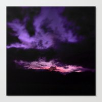 Purple Clouds Canvas Print