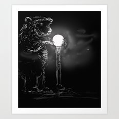 Drawn to the light Art Print