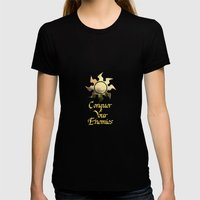 Conquer your Enemies Womens Fitted Tee Black SMALL