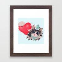 Steal Heart (light) Framed Art Print
