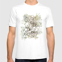 Autistic Remix #003 Mens Fitted Tee White SMALL