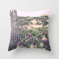 Mornings At The Beach Throw Pillow