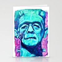 Frankenstein Halloween Zombie Stationery Cards