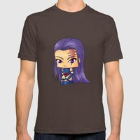 Chibi Psylocke Mens Fitted Tee Brown SMALL