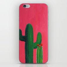 Pink cactus iPhone & iPod Skin