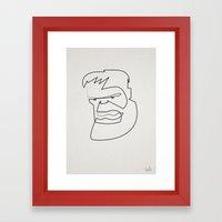 Oneline Hulk Framed Art Print