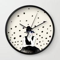 Polka Rain III Wall Clock