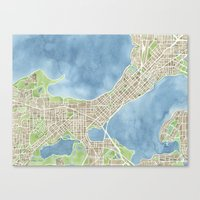 City Map Madison Wiscons… Canvas Print