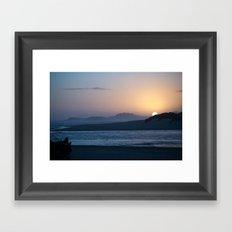 sunset over sea Framed Art Print