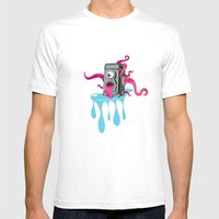 Monster Camera Mens Fitted Tee White SMALL