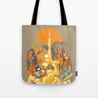 Smash! Zap!! Zooom!! - Butt-Chinned Captain Tote Bag