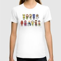 Super Cute Heroes: X-Men Womens Fitted Tee White SMALL