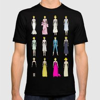 Marilyn Fashion Pink  Mens Fitted Tee Black SMALL
