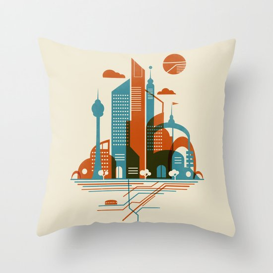 From the Subway to the Sky Throw Pillow