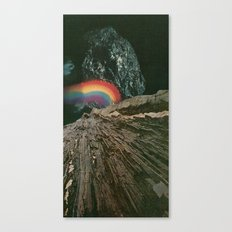 rainbow at the center of the earth Canvas Print