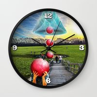 Interspatial Field Wall Clock