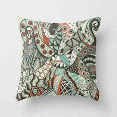 Peanuts i wanted to be octopus Throw Pillow