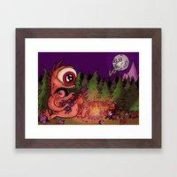 Campfire blues Framed Art Print