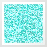 Turquoise Leopard Art Print