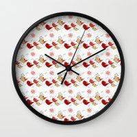 Cute birds pattern Wall Clock