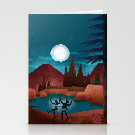 Moondance - Inspired by Wes Anderson's movie Moonrise Kingdom Stationery Card