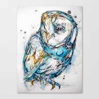 The Sea Glass Owl Canvas Print