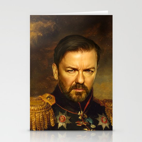 Ricky Gervais - replaceface Stationery Card
